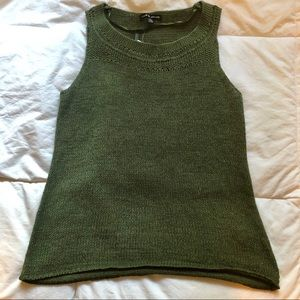 Cable & Gauge | Dark green knit top Size L (NWT)